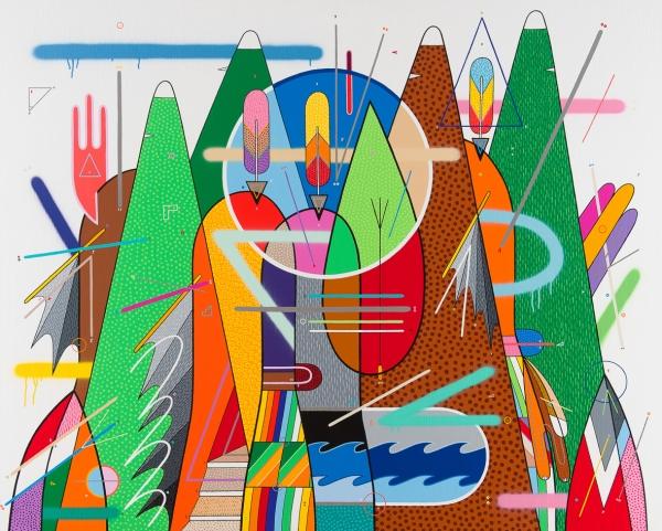 Serie, El Espíritu de la Montaña Medidas 162 x 130cm Acrílico sobre tela Barcelona 2016