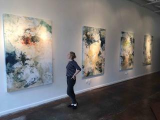 Solo Show Wall on Dragon Gallery Dallas Tx