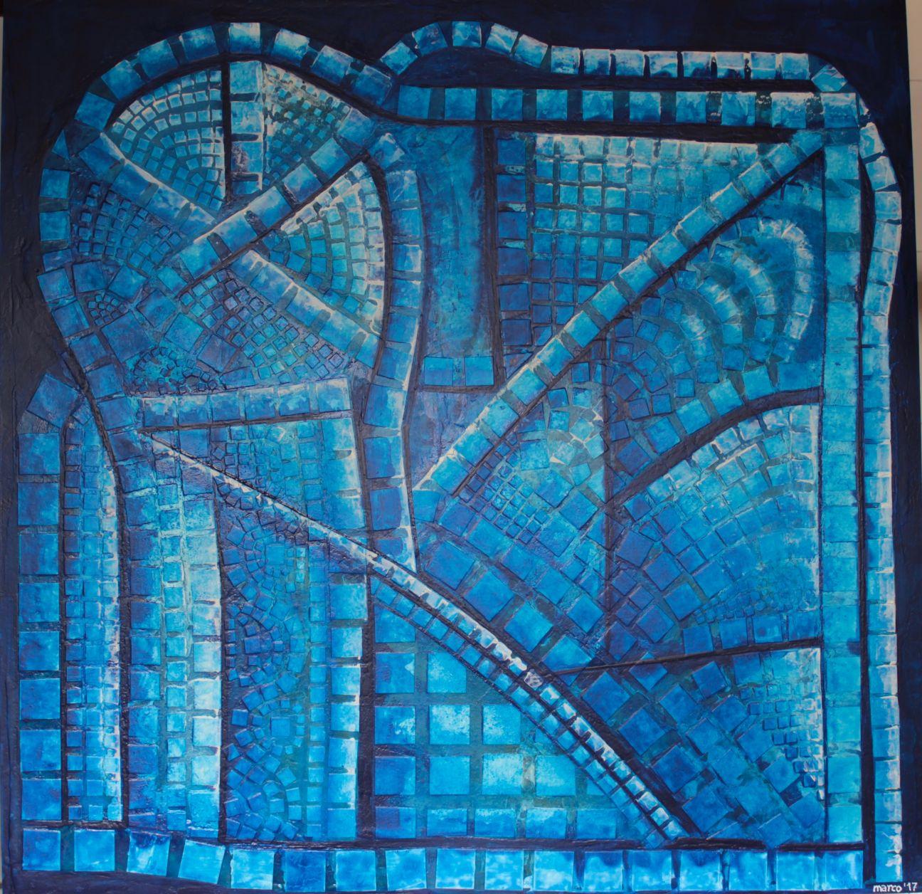 Collage en blu