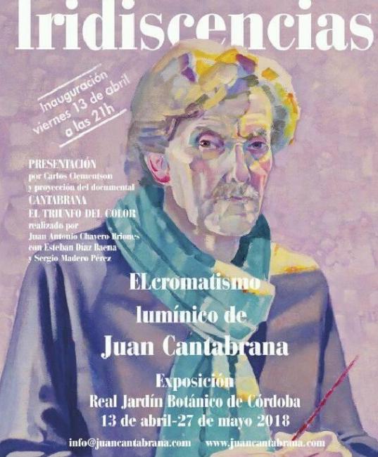 Cartel de la Exposición Juan Cantabrana, Iridiscencias.