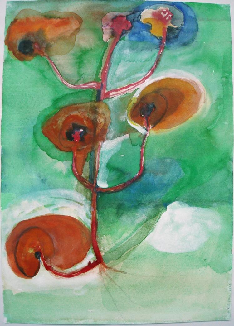 Roses and Caterpillar Tree #2  (1 of 4) (2013) - Hanneke Klinkum