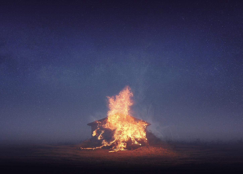 Mi pequeño refugio en llamas (2019) - Rocío Álvarez Cuevas