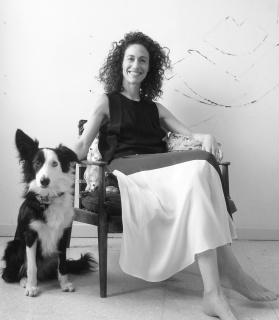 Allison Malinsky y su perra, Goya
