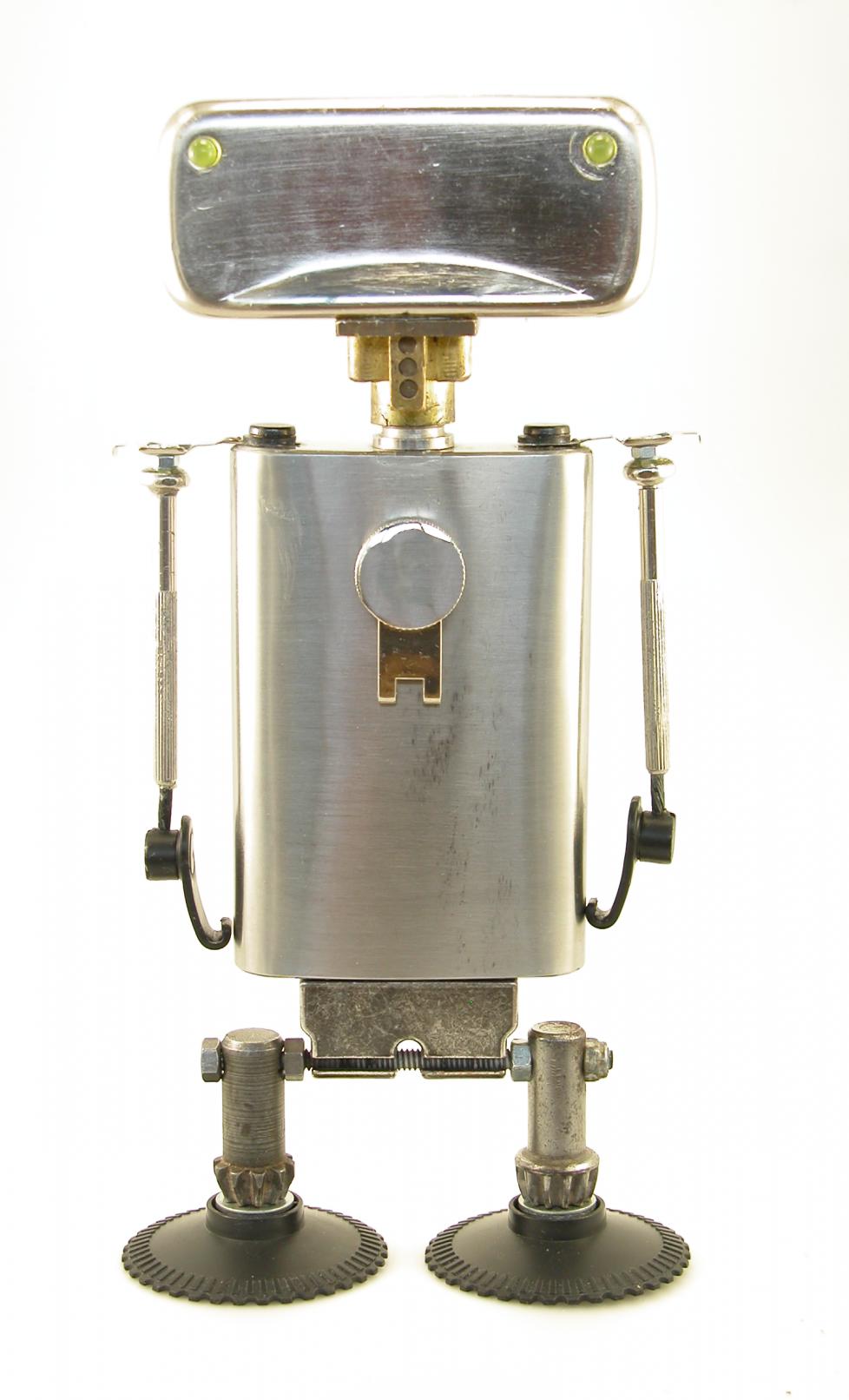 Escultura Drap Art - Robot de Reciclaje alfa 007 (2019) - Alfredo Blasco Nuin - Alfacto