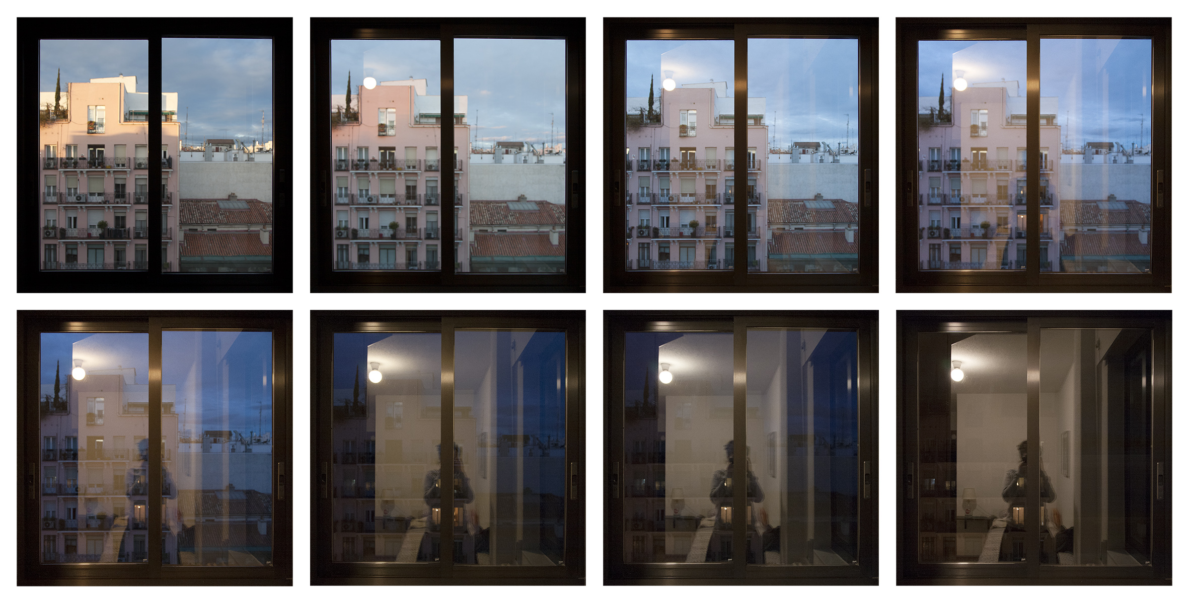 Vista desde la ventana en Madrid