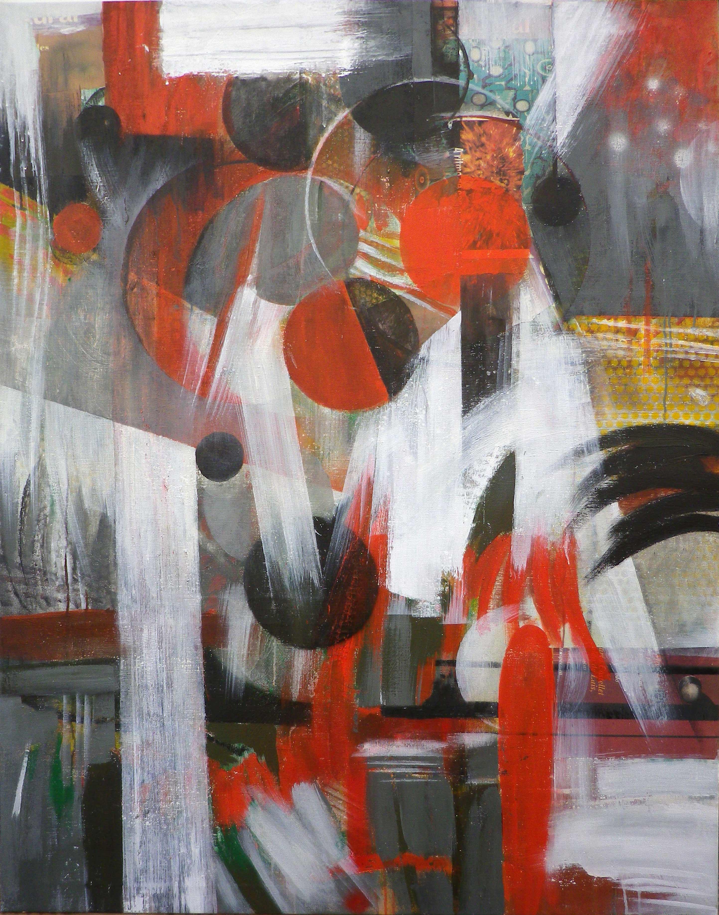 Trazos blancos y círculos rojos (2014) - Rafael Cerdá Martínez