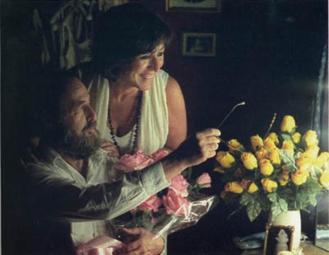 Rosa Martinez y Harald Szeemann, Barcelona, 2001
