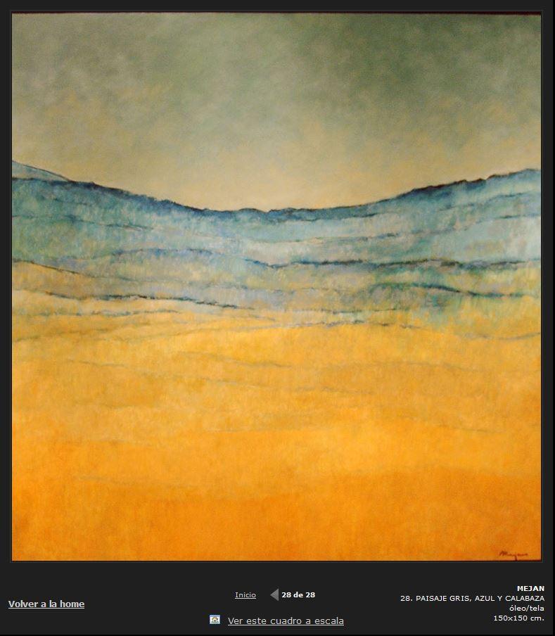 Paisaje gris, azul y naranja (2016) - Mejan