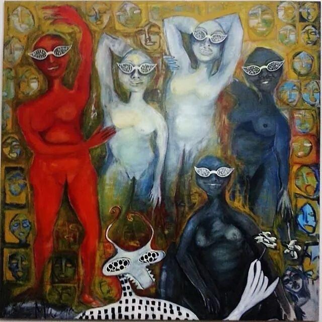 Las Señoritas y Pimentón (Reinterpretando a Picasso) (2000) - María Eugenia Catoni