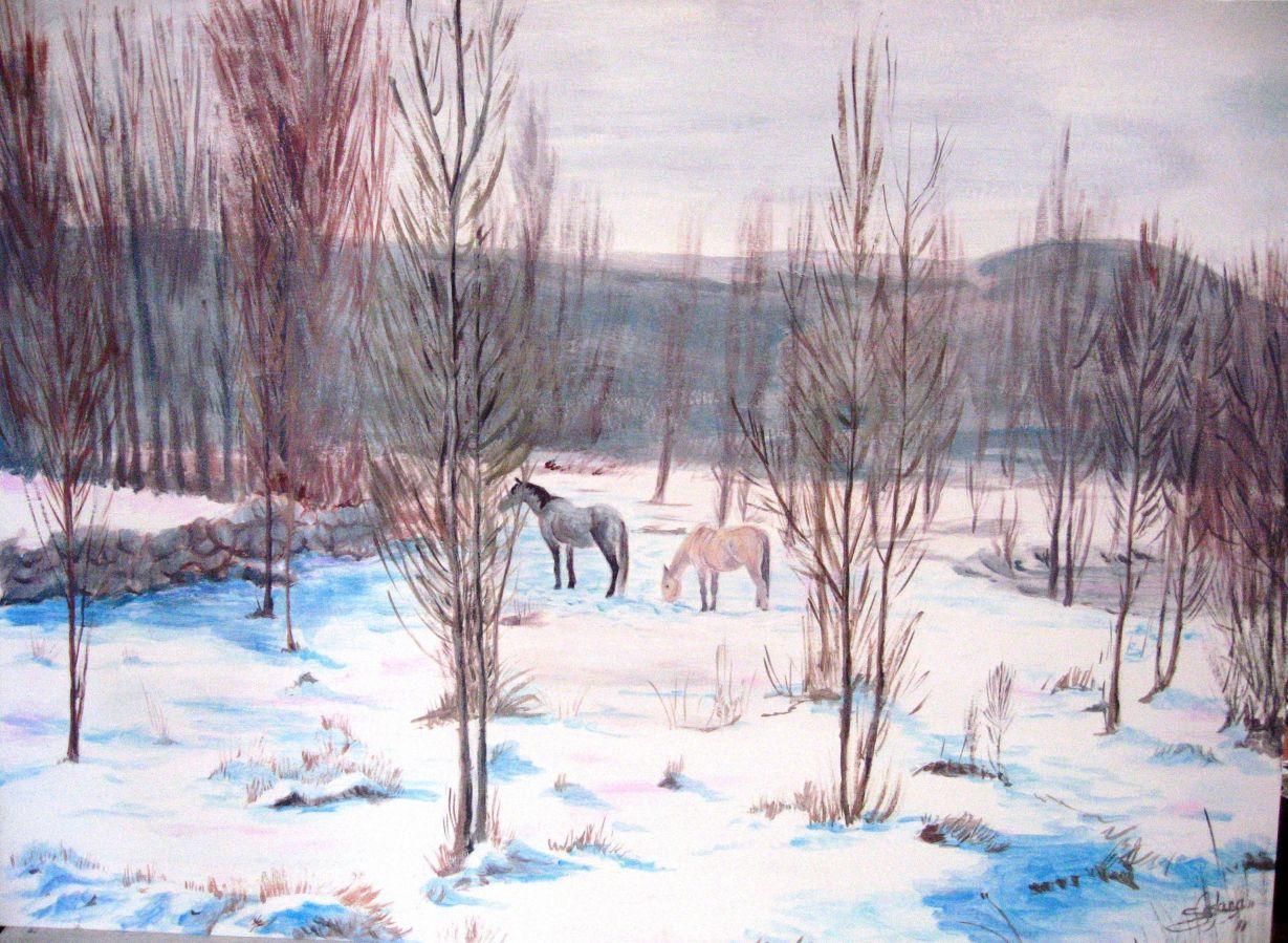 Caballos en la nieve (2011) - Alonso de Sousa