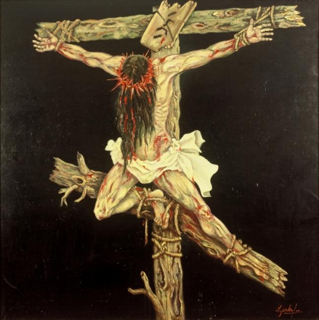 Cristo de Despeñaperros . Oleo sobre lienzo 200 x 200 cms