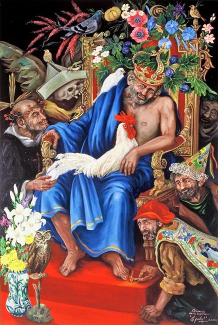 La Coronación de La Locura.Oleo sobre Lienzo 130 x 195 cms