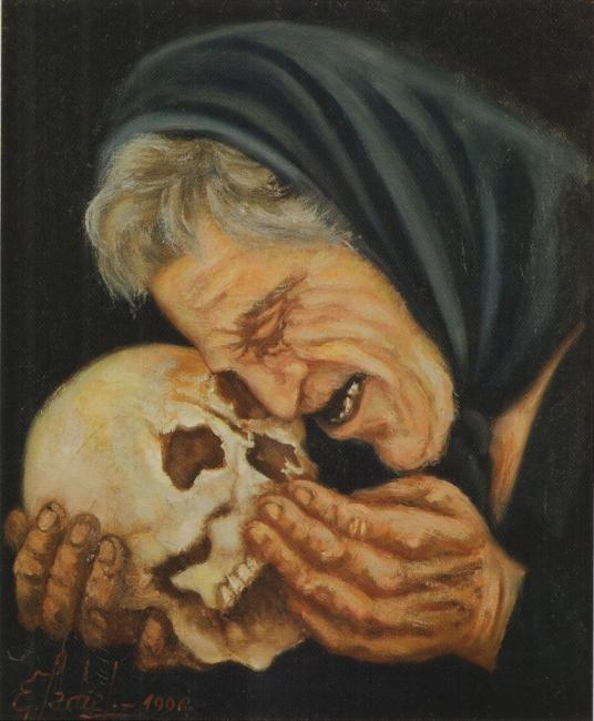Madre e Hijo. Oleo sobre lienzo.48 x 73 cms.