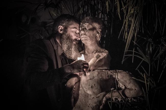 Joaquin Jara. Acción escultórica con Bjort Runnarsdottir