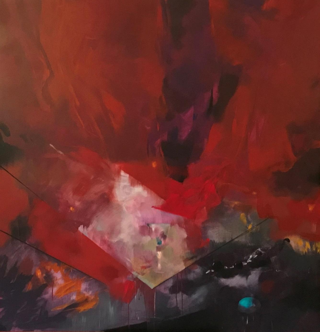 """Proyecto OPERAS """"Mirada sobre la libertad a través de la Opera """" Acrílico sobre tela 150 x 150. 2018 (2018) - Montserrat Clausells"""