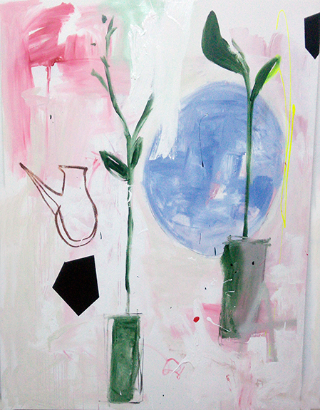 Plants Jug and Some Other Things on Pink (2017) - Almudena Blanco