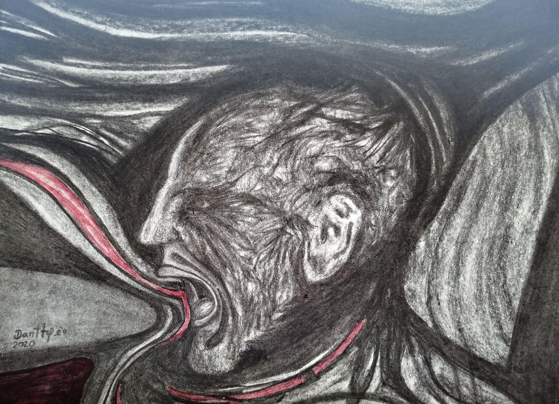 Mi grito homenaje edvard munch (2020) - Dantty Valencia Sanchez - Dantty