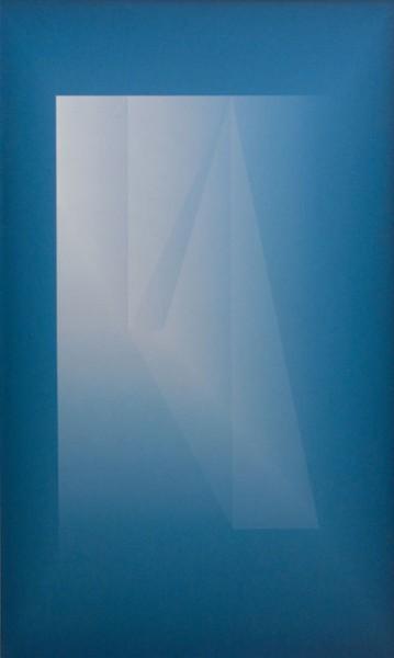 Espacio Gnóstico Azul 120x200cm obra premiada Lalit Kala Akademi