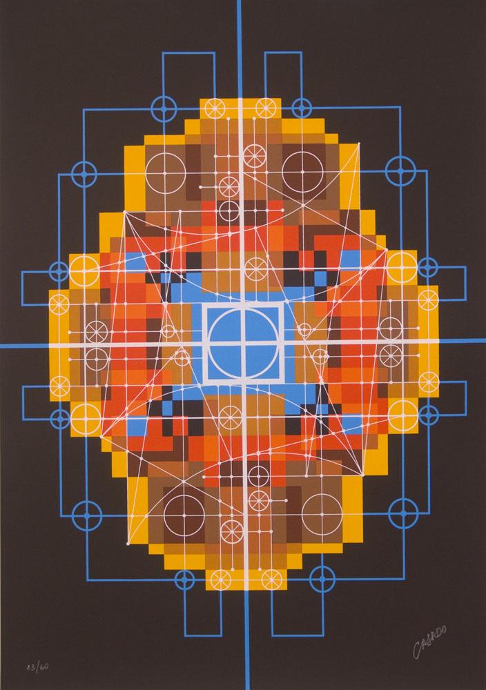 Ciudad Transfigurada (1969). Serigrafía 60 copias autenticadas.