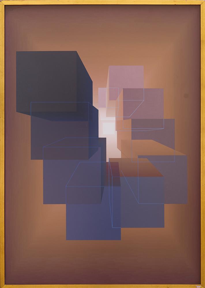 Abstracción geométrica Gouache sobre cartulina (1973) - Julián Casado Lamoca