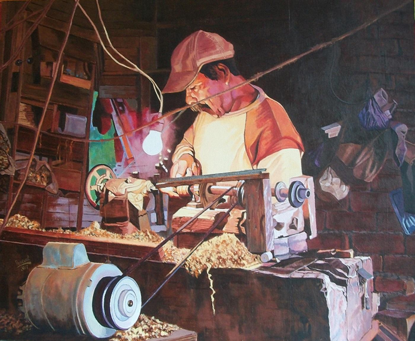 Trabajando en el torno (2016) - José Luis García Pascual - Pascual
