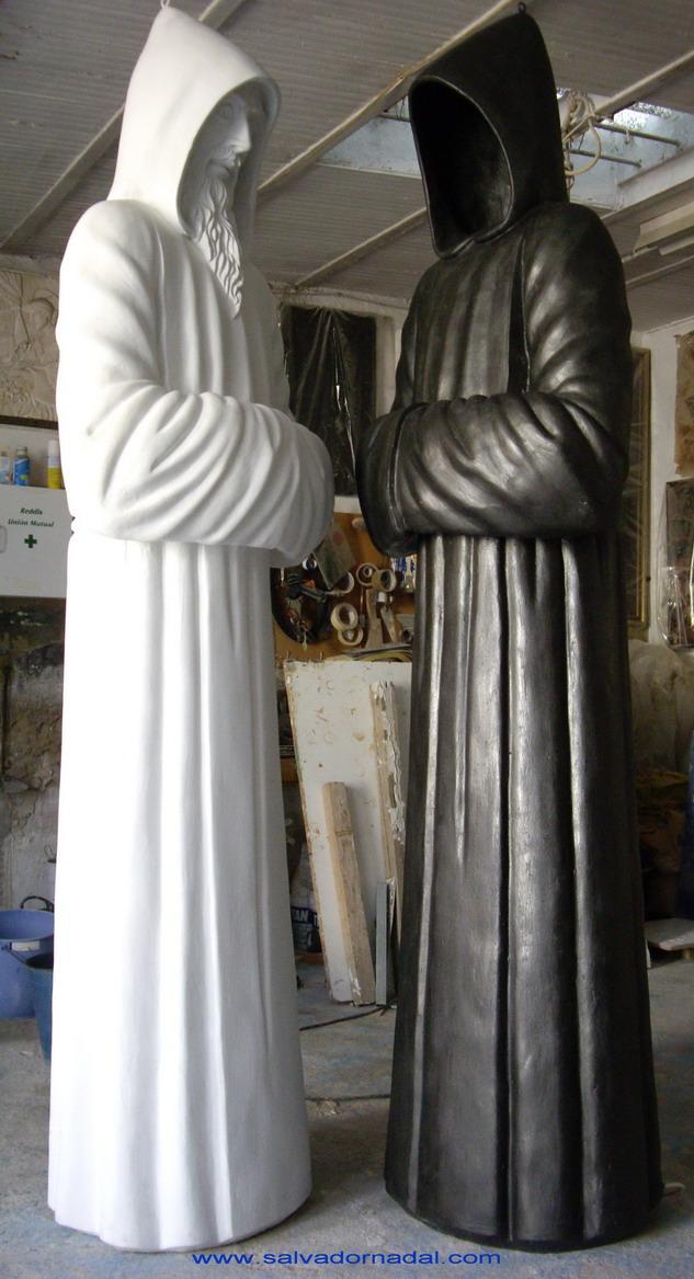 El monje y el oscuro (2010) - Salvador Nadal Granell - Escultor Salvador Nadal Granell