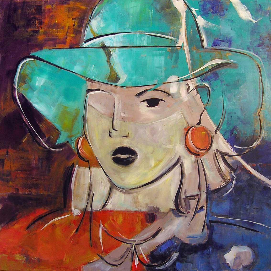 Mujer con sombrero (2017) - Carlos Cerdá Alabern