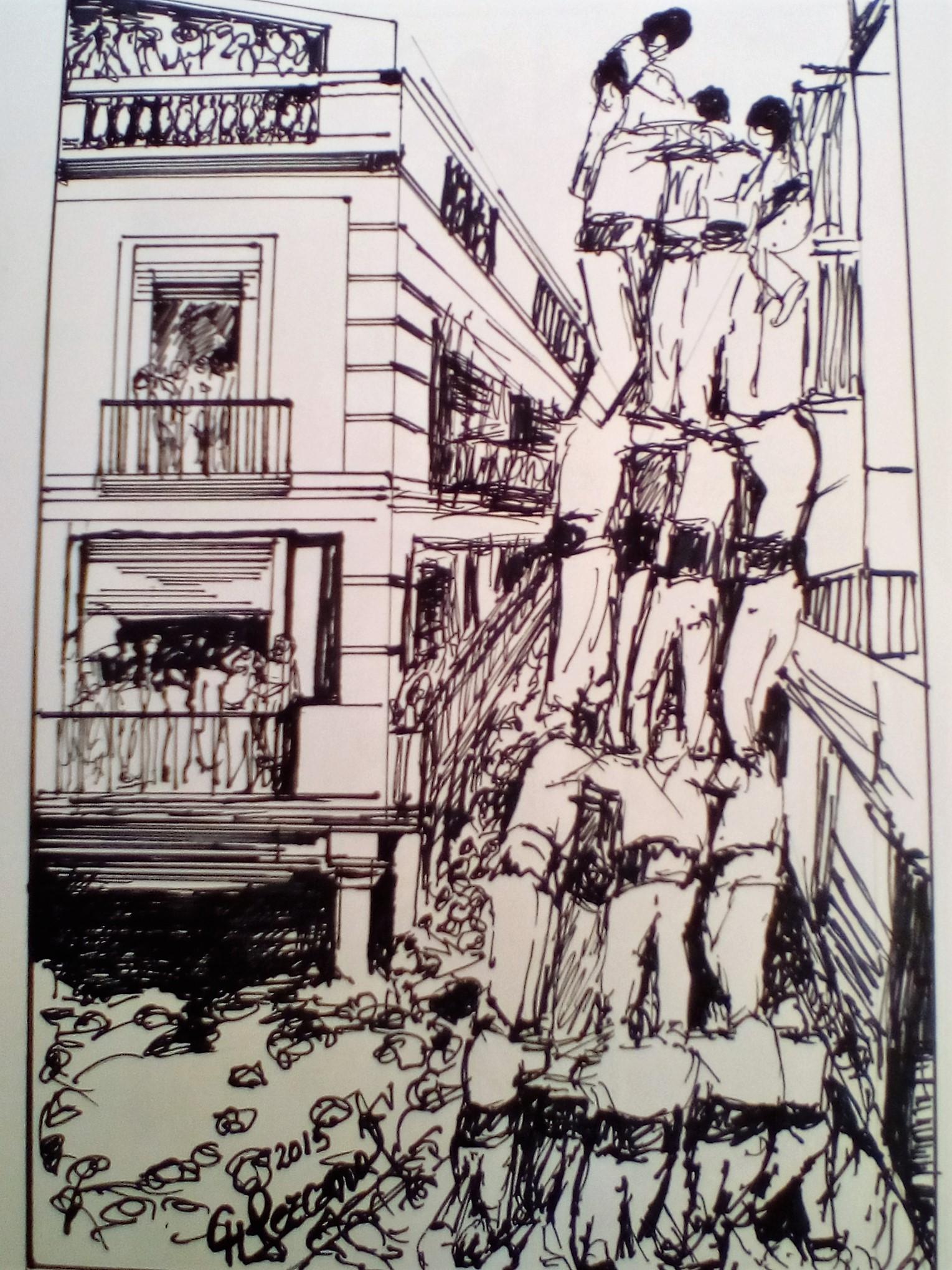 """""""Grafismo casteller"""" (2015) - Carlos Hugo Lezcano"""