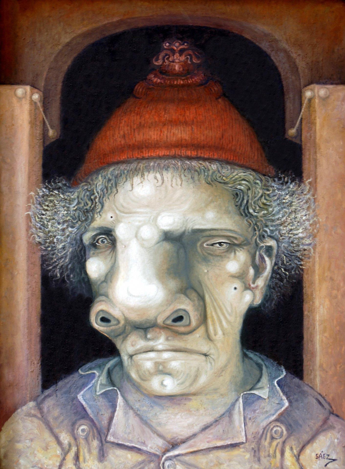Personaje con gorro (2010) - Miguel Angel Sáez - SÁEZ