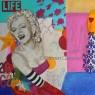 MARYLIN IN LOVE, collage y acrílico sobre lienzo, 200x200 cm