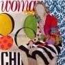 WOMAN, collage y acrílico sobre lienzo, 100x100 cm
